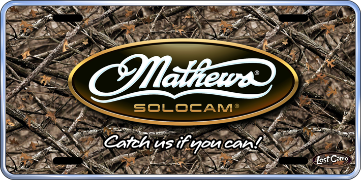 mathews hunting license plates by arrowrap your source